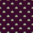 Pattern flowers on burgundy background — Imagen vectorial