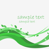 Sample text leaves — Stock Vector