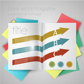 Magazine template — Stock Vector