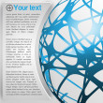Globe design template — Stock Vector