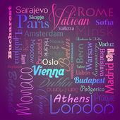 European capital cities — Stock Vector