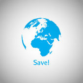 Save the World vector symbol — Stock Vector