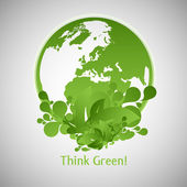 Green Eco World — Stock Vector