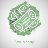Illustration money — Vecteur