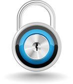 Realistic padlock — Stock Vector