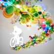 Cyclist illustration — Stock Vector