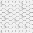 Stock Vector: Paper hexagon background