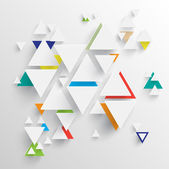 Triangle background for advertising — Stock Vector