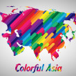 Colorful Asia — Stock Vector #39349727