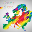 Colorful Europe — Stock Vector
