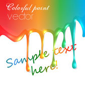 Colorful paint trickling — Stock Vector