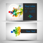 Abstract business-card — Stock Vector