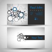 Circles business-card — Stock Vector