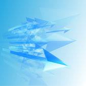 Flechas azules — Vector de stock