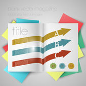 Magazine template with arrows — Stock Vector