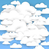 Speech bubbles in the shape of clouds — Stock Vector