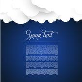 Cloud web template — Stock Vector