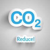 CO2 pollution — Stock Vector