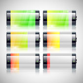Bateria set status de carga — Vetorial Stock