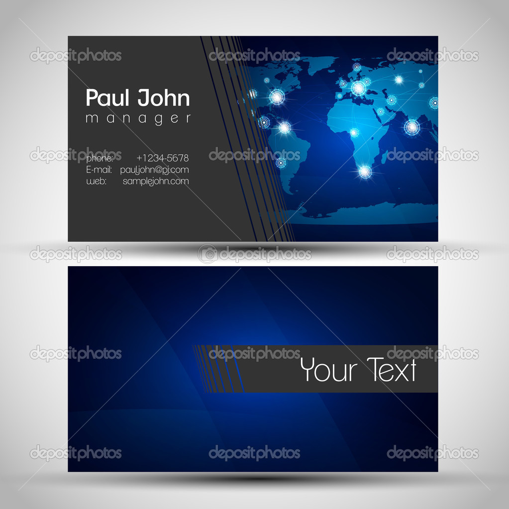 business card network stock vector © seby87 39349169 business card modern globe connections network design front and back vector by seby87