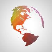 Renkli dünya sembolü — Stok Vektör