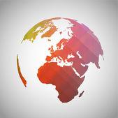Símbolo colorido mundo — Vector de stock