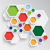 Modern hexagon design — Stock Vector