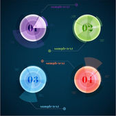 Infographic circles illustration — Stockvektor