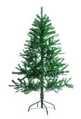 The bare artificial Christmas tree — Stock Photo