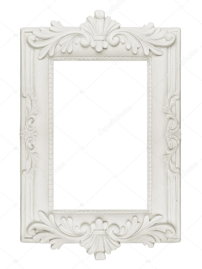 Vintage plaster frame stock photo wabeno 19971239 - Antique white picture frames ...