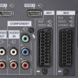 LCD TV -Audio video Inputs - Stock Photo