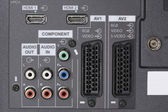 LCD TV -Audio video Inputs — Stock Photo