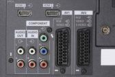 LCD TV -Audio video Inputs — Stock Photo