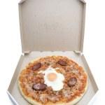Pizza in cardboard box — Stock Photo #22800676