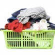 Laundry basket and dirty clothing — Stock Photo #22802428