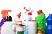 Collection of hygiene cleaners for housework — Stock Photo