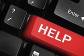 Teclado con tecla help — Foto de Stock