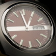 Watch on a black background — Stock Photo