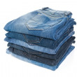 Stack with jeans — Stock Photo