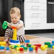 Little boy playing with educational toys — Stock Photo