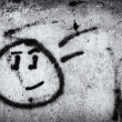 Stock Photo: Graffiti wall with smile face