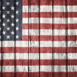 The USA flag painted on wooden plank — Stock Photo #44486233