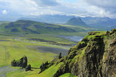 View of south coast at Dyrholaey, Iceland — Stock Photo