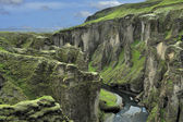 Canyon Fjadrargljufur, Iceland — Stock Photo