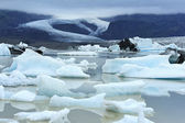 Fjallsarlon glacier lake, Iceland — Stock Photo