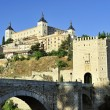 Alcantara bridge and Alcazar (Toledo, Spain) — Stock Photo