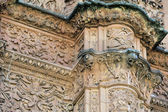 Facade of the University of Salamanca with frog on a skull (Cast — Stock Photo