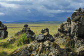 Stone cairns at Laufskalavarda, Iceland — Stock Photo