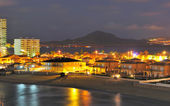 View of la Manga del Mar Menor at night — Stock Photo