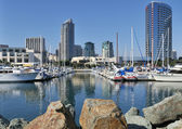 View of yacht harbor — Stock Photo